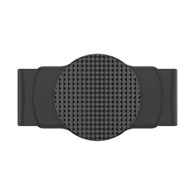 PopGrip Slide Stretch Knurled Texture on Black with Square Edges